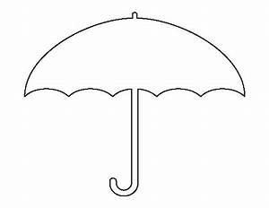 Umbrella pattern Use the printable outline for crafts