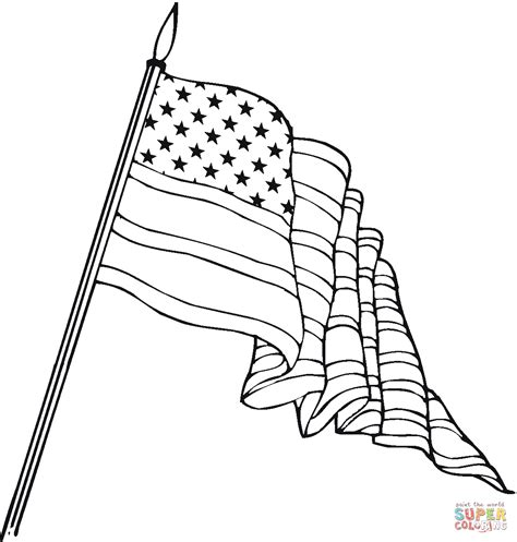 usa flag coloring page  printable coloring pages