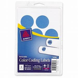 avery round 125quot color coding multipurpose label 400 With avery 1 25 round labels