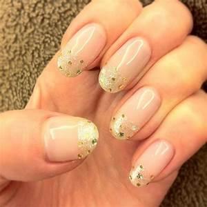 Glitter Gold Striping Tape French Manicure #888856 - Weddbook