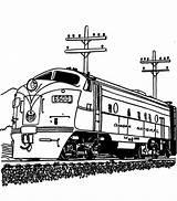 Train Coloring Diesel Engine Railroad Streamlined Drawing Steam Print Pages Template Getdrawings Sketch sketch template