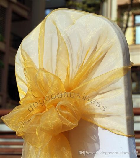 gold chair cover chair sash organza sash chair cover
