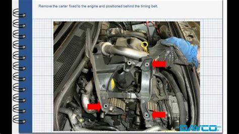 timing kit installation renault megane ii  dci engine