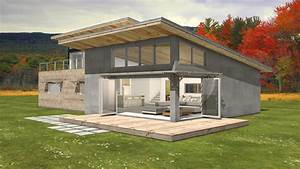 Modern house with shed roof modern house for Modern house plans shed roof