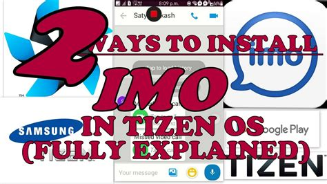 how to install imo free calling app in tizen os samsung z2 z1 z3 not for 2 3 3 acl