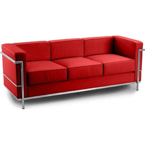 canape cuir le corbusier canapé cuir premium 3 places inspiré lc2 le