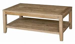Table De Salon Bois : table basse salon bois pas cher le bois chez vous ~ Teatrodelosmanantiales.com Idées de Décoration