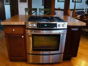 stove in island kitchens maple custom wood countertops butcher block