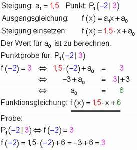 Funktionen Berechnen : lineare funktionen aus gegebenen bedingungen ~ Themetempest.com Abrechnung