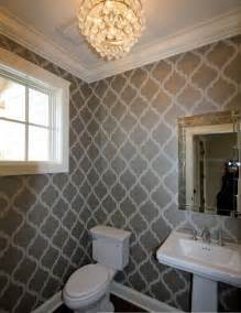 Wallpaper Bathroom Ideas Floor Bathroom Wallpaper Decorating Ideas
