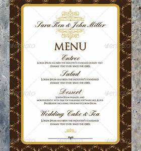 10 wedding menu templates free download With html menu templates free download