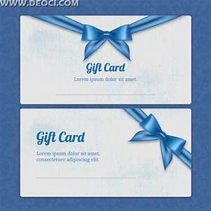 beautiful blue gift card design template ai download With gift certificate template ai