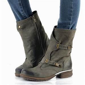 2016 brand design genuine leather vintage motorcycle boots With best women s motorcycle boots