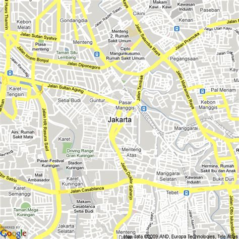 map  jakarta indonesia hotels accommodation
