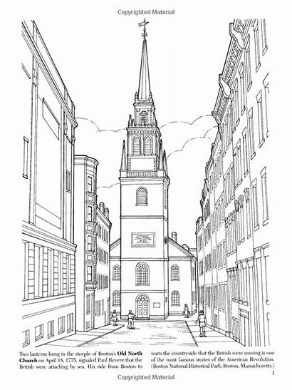 Coloring Adult Pages Landmarks Books Historic History