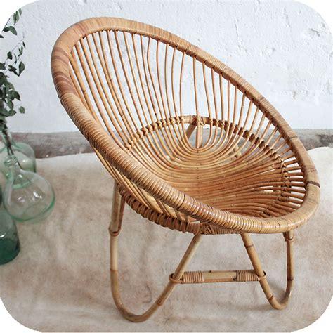 siege en osier d278 mobilier vintage fauteuil rotin f atelier du petit parc