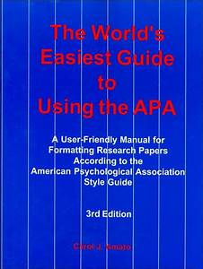 The World U0026 39 S Easiest Guide To Using The Apa  A User