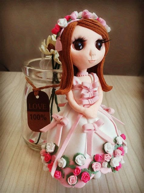 valentine handmade clay dolls  doll accessory home
