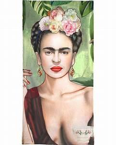 Frida Kahlo Kissen : frida con amigos als handtuch von nettsch juniqe ~ One.caynefoto.club Haus und Dekorationen