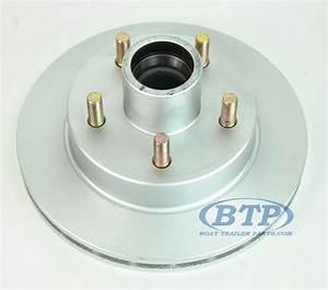 Kodiak Replacement Integral Dacromet 5 Lug Brake Rotor 10 Inch