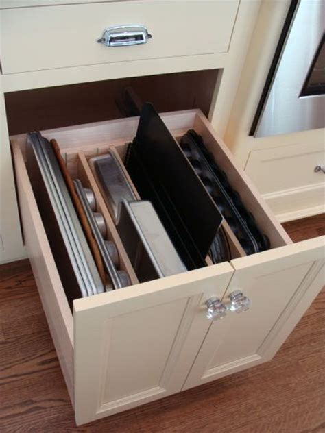 good idea  storing baking trays trays  divided