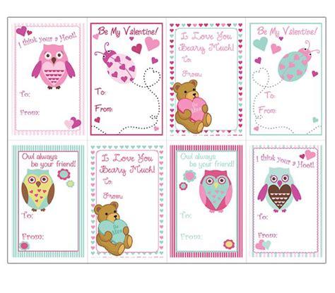 animals valentine cards templates  kids super cute