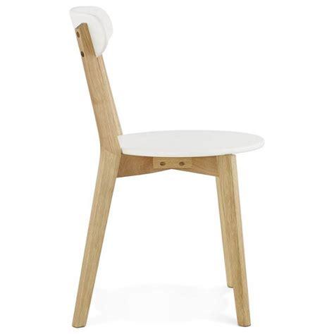 chaise bois et blanc chaise design style scandinave scandi en bois blanc