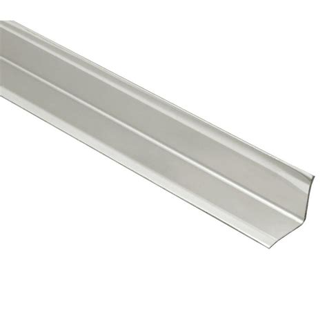 home depot tile edging schluter eck ki brushed stainless steel 9 16 in x 6 ft 7