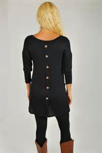 button back tunic in black you won t want to pass up this