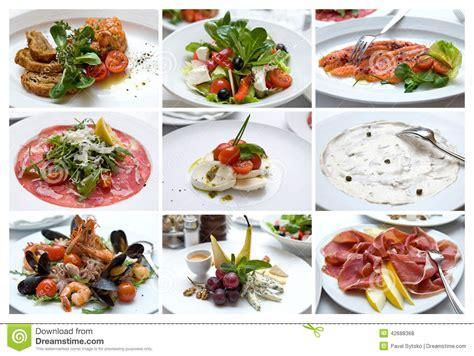 la cuisine des italiens collage de divers plats italiens cuisine italienne casse cro 251 te photo stock image 42688368