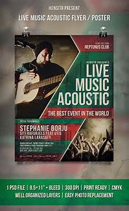 Live Music Acoustic Flyer / Poster by HENSITR | GraphicRiver