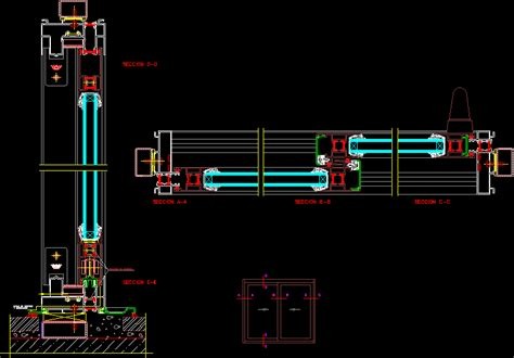 sliding window dwg section  autocad designs cad