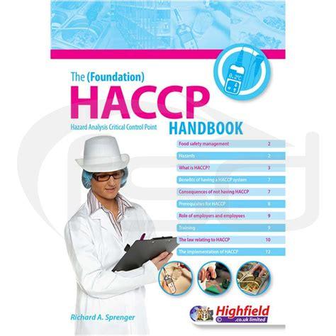 haccp cuisine the foundation haccp handbook haccp food safety books
