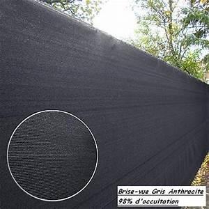 Pare Vue Pas Cher : rouleau de brise vue gris anthracite ~ Premium-room.com Idées de Décoration
