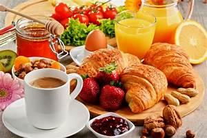 Breakfast Coffee Croissant Cup Fruit Juice Still Life