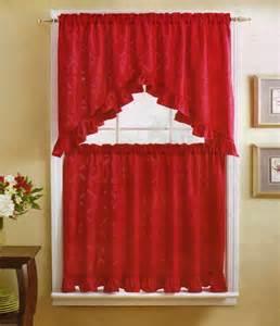 Red Kitchen Curtains Valance