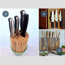 Toss The Block 10 Creative Ways To Store Kitchen Knives