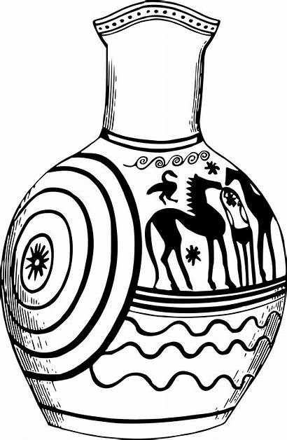 Vase Clipart Greek Pottery Mexican Clip Drawing