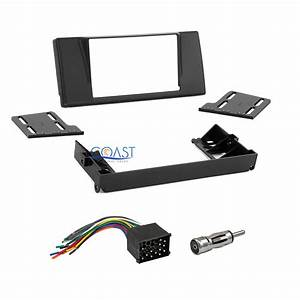 Double Din Car Radio Stereo Dash Kit Harness Antenna For