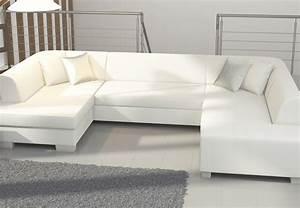 meuble de salon canap canape canape d angle blanc With tapis shaggy avec canapé assise moelleuse