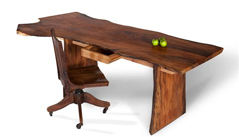 edge slab desk custom wood desk david stine