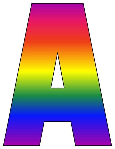 rainbow printable letters     printable
