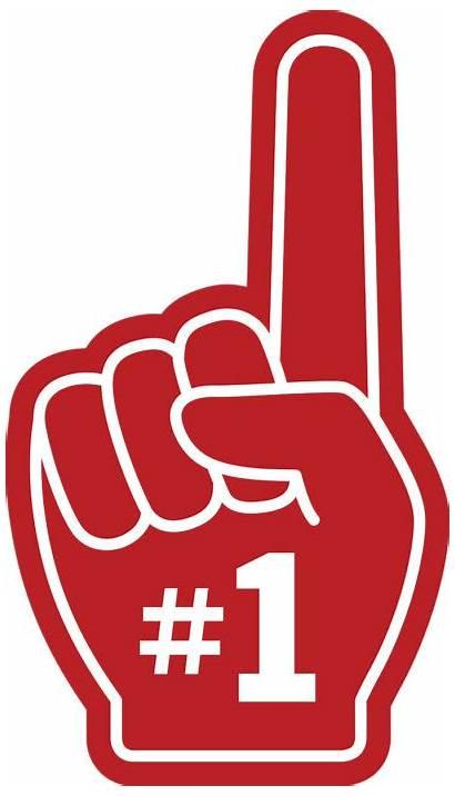 Finger Foam Number Fan Clipart Mano Espuma