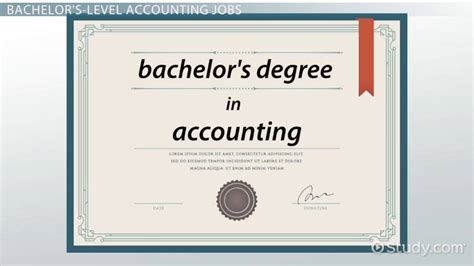 bachelors degree  accounting