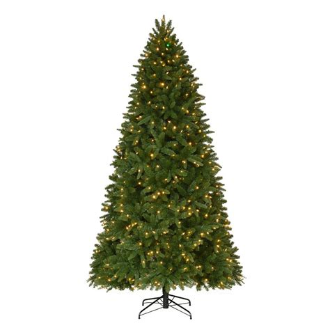 what artificial pre lit chridtmas are at home depot home accents 9 ft pre lit led nevada