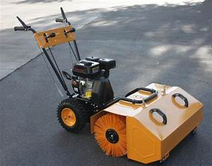 31 U0026quot  Walk Behind Forward  U0026 Reverse 196cc 6 5hp Gas Power Sweeper Lawn Gravel Turf