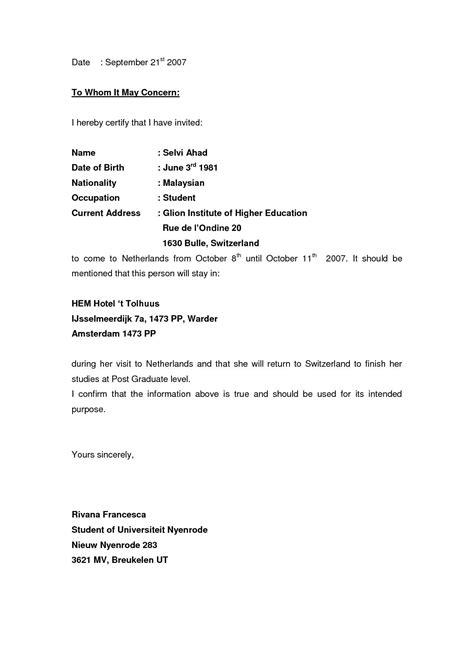 invitation letter format for schengen business visa best