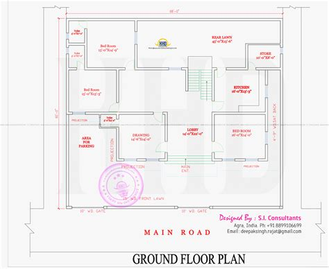Simple 2 Bhk Home Plan Placement - House Plans