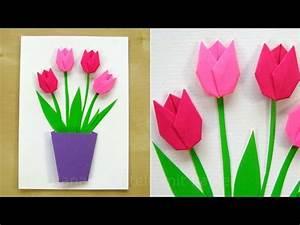 Papier Selber Machen : basteln mit papier blumen selber machen diy geschenke basteln tulpen basteln geschenkideen ~ Frokenaadalensverden.com Haus und Dekorationen