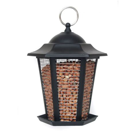 buy supa premium metal lantern wild bird peanut feeder black